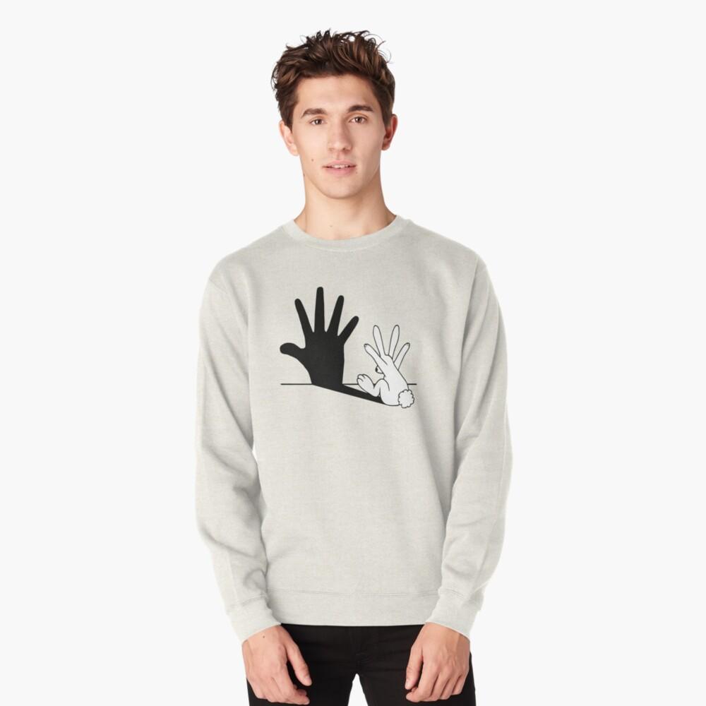 Rabbit Hand Shadow Pullover Sweatshirt