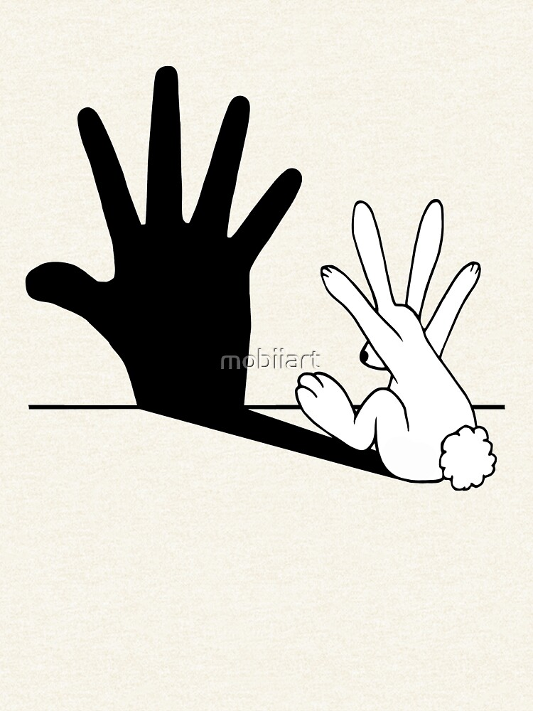 Rabbit Hand Shadow by mobiiart