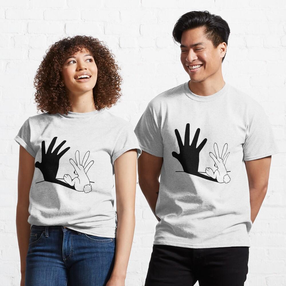 Rabbit Hand Shadow Camiseta clásica