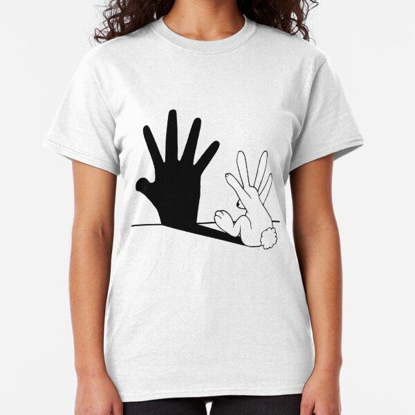 RABBIT SHADOW HAND MENS T-SHIRT FUNNY PRINTED DESIGN MEME COMEDY TOP