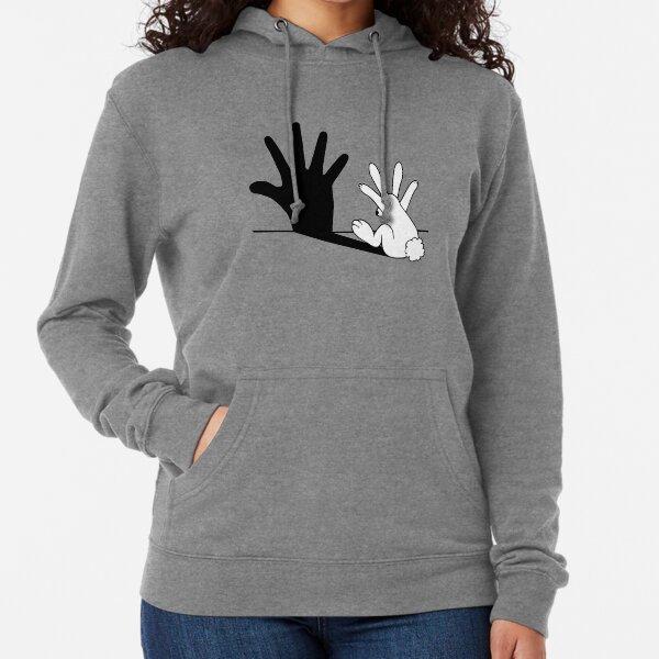 Rabbit Hand Shadow Lightweight Hoodie