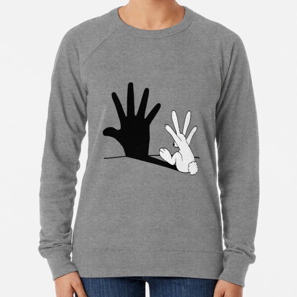 Rabbit Hand Shadow Lightweight Sweatshirt