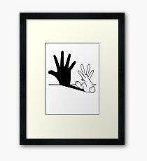 Rabbit Hand Shadow Framed Print