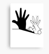 Rabbit Hand Shadow Canvas Print