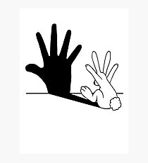 Rabbit Hand Shadow Photographic Print