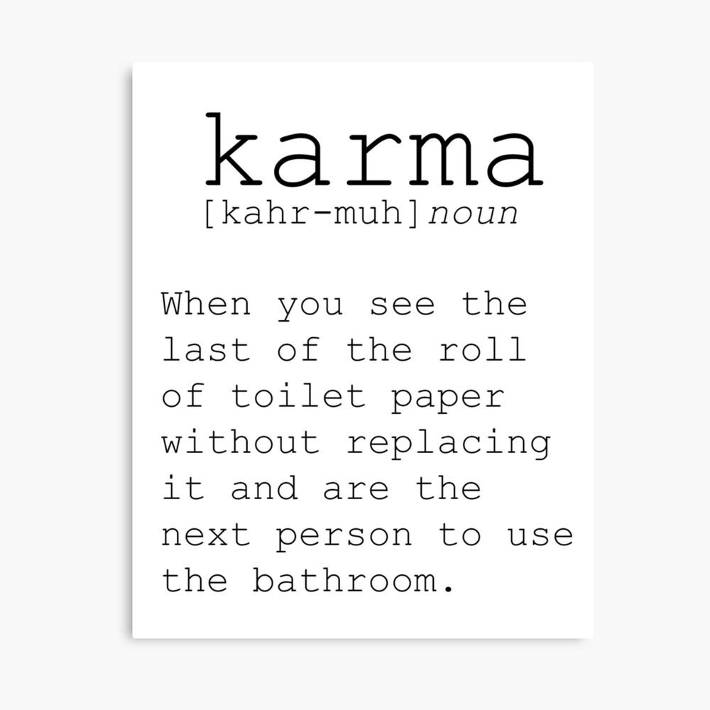 LUSTIGE WANDKUNST Definition Print Karma Print lustige Definition