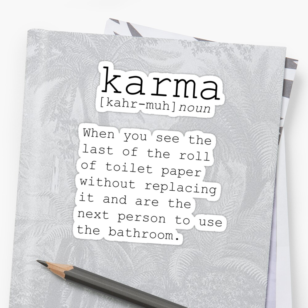 funny wall art definition print karma print funny definition print