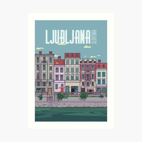 Ljubljana Illustration Art Print
