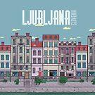 Ljubljana Illustration by Steven Vogel