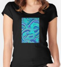 Adrift Among the Magical Waves Serene and Happy Women's Fitted Scoop T-Shirt