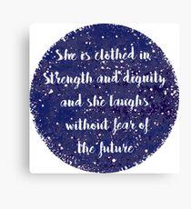 Proverb Canvas Print