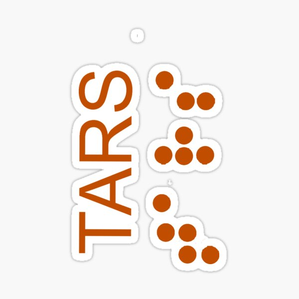 Logo TARS - Interstellaire Sticker