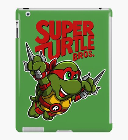 Super Turtle Bros - Raph iPad Case/Skin