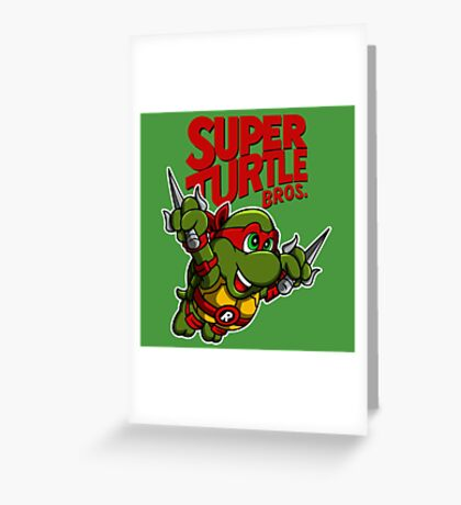 Super Turtle Bros - Raph Greeting Card