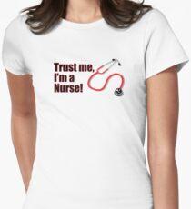 Funny Graduation Trust Me I'm a Nurse Stethoscope Quote T-Shirt