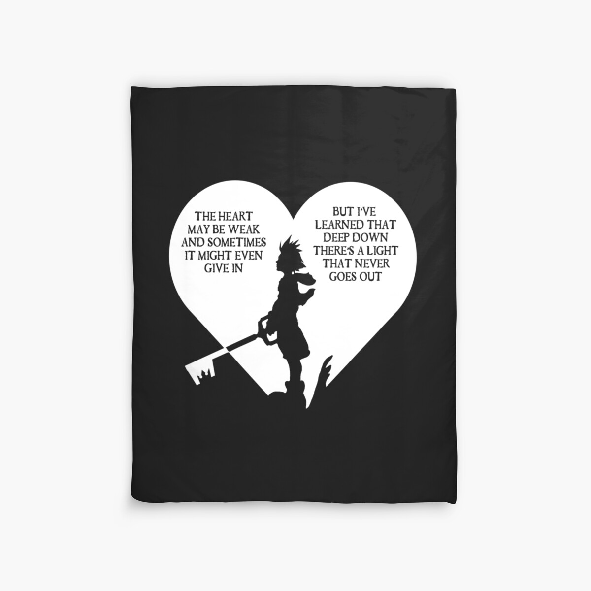 "Kingdom Hearts Quotes Kingdom Hearts Sora Quote"" Duvet Coverskewlzidane  Redbubble"