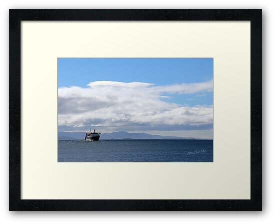 MV Lord of the Isles Arriving at Tiree by Jonathan Cox