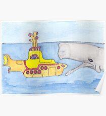 yellow submarine in Gefahr Poster