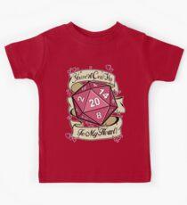 Kritischer Treffer für mein Herz Kinder T-Shirt