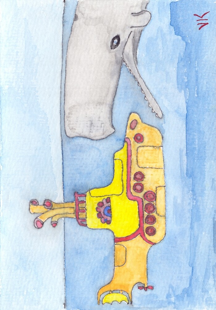 yellow submarine in danger by yogibaer