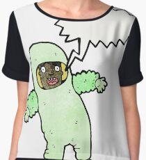 cartoon man in radiation suit Women's Chiffon Top