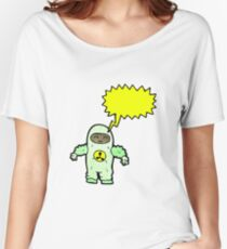 cartoon man in radiation suit Women's Relaxed Fit T-Shirt