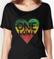 Camiseta ancha One Love Music Rasta Reggae Heart Peace Roots