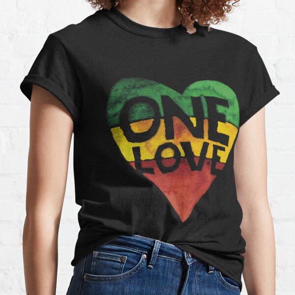 Eine Liebe Musik Rasta Reggae Herz Frieden Wurzeln Classic T-Shirt