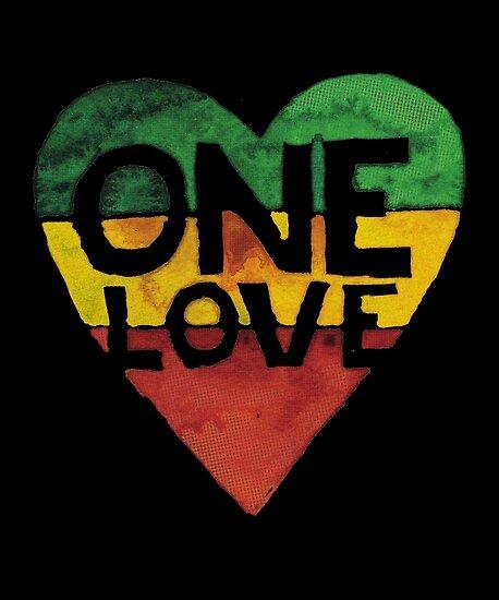 Eine Liebe Musik Rasta Reggae Herz Frieden Wurzeln von roarr