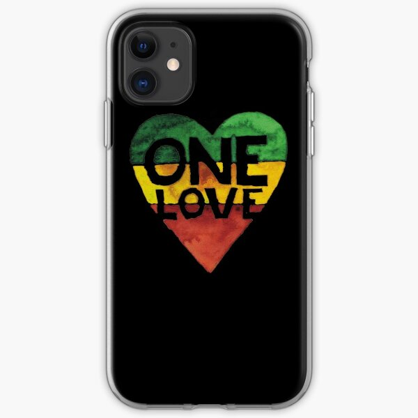 One Love Music Rasta Reggae Heart Peace Roots  iPhone Soft Case