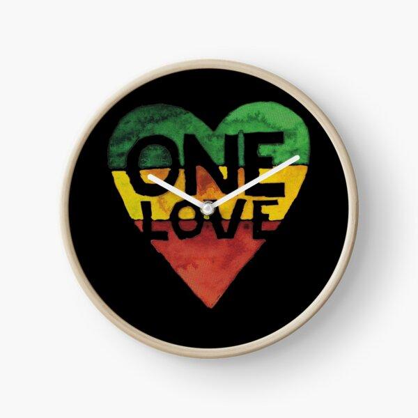 One Love Music Rasta Reggae Heart Peace Roots  Clock
