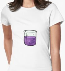 science beaker cartoon Women's Fitted T-Shirt