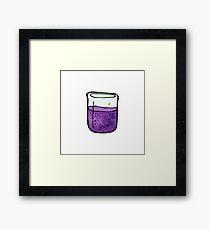 science beaker cartoon Framed Print