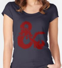DnD logo (Red) Women's Fitted Scoop T-Shirt