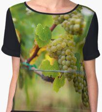 Ripening grapes on the vine Chiffon Top