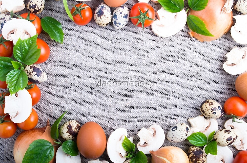 Top view of the food ingredients in the form of a frame by vladromensky