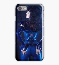 Blue latex corset 02 iPhone Case/Skin