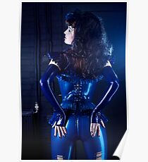 Blue latex corset 02 Poster