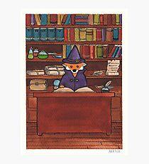 James the Wizard Fox Photographic Print