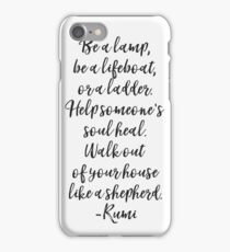 Rumi quote original iPhone Case/Skin