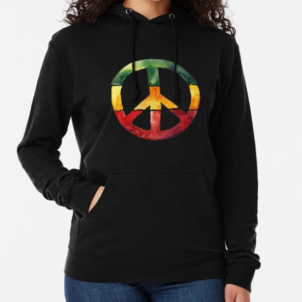 Pink hoodie sweatshirt peace sign fingers peace symbol men/'s size sweat-shirt