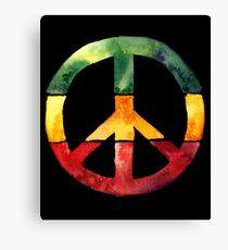 Peace Sign Rasta Reggae No War Design Rastafari Gift Canvas Print