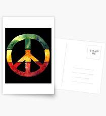Friedenszeichen Rasta Reggae kein Kriegsentwurf Rastafari Geschenk Postkarten