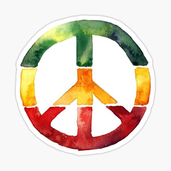 Friedenszeichen Rasta Reggae kein Kriegsentwurf Rastafari Geschenk Sticker