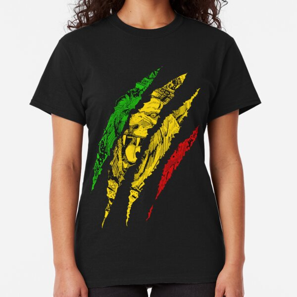 Warrior Lion of Judah King Rasta Reggae Jamaica Roots Classic T-Shirt
