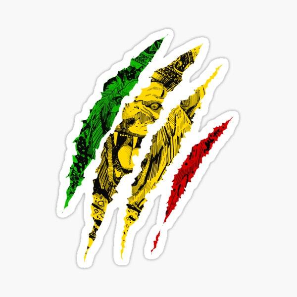 Warrior Lion of Judah King Rasta Reggae Jamaica Roots Sticker