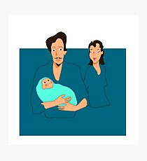 Family with a lovely baby Photographic Print