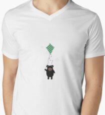 Black Bear with Kite T-Shirt