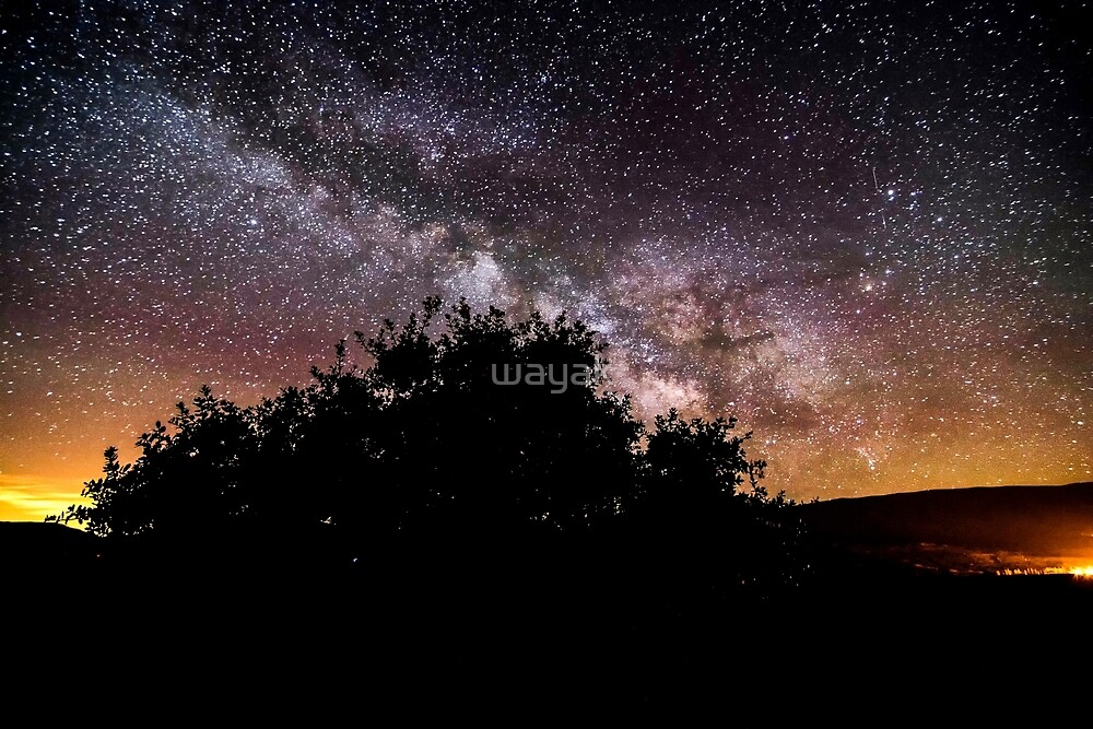 milky way in the mountain by wayak