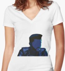 The Weeknd - Starboy Women's Fitted V-Neck T-Shirt
